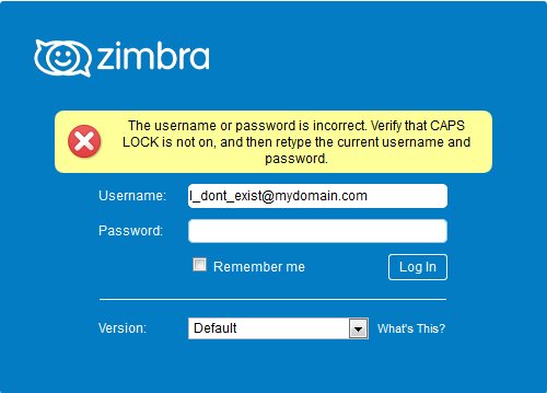 You are using the wrong username and/or password | common-problem